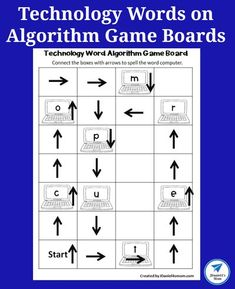 Technology Words on Algorithm Game Boards - JDaniel4s Mom #coding #algorithm #computerterms #technoloywords #jdaniel4smom