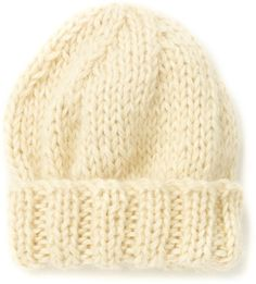 The North Circular Natural Wool Chunky Beanie on shopstyle.com Slouch Beanie 52ff23a7335a
