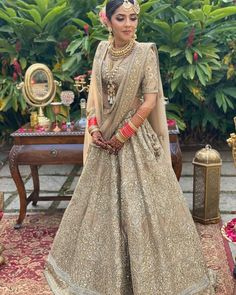 Looking for Bridal Lehenga for your wedding ? Dulhaniyaa curated the list of Best Bridal Wear Store with variety of Bridal Lehenga with their prices Golden Bridal Lehenga, Indian Bridal, Ethnic Chic, Indian Lehenga, Free Wedding, Wedding Attire, Indian Dresses, Bridal Dresses, Fashion Dresses