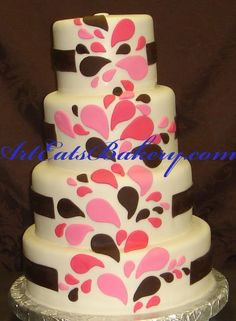 cake+designs | ... custom fondant wedding and birthday cake designs, pictures and recipes