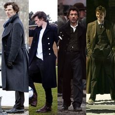 Long coats are cool AND sexy; two Sherlocks and two Doctors, yum ;-)