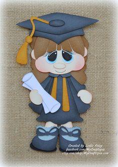 Escuela chica de graduación preconfeccionados Scrapbooking
