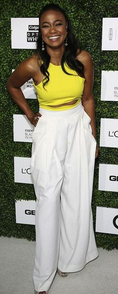 tatyana ali  holly robinson peete 7th annual black women in hollywood luncheon fashion bomb daily 2014