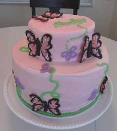 Great Butterfly Cake 2 Tier   Google Search. Butterfly Baby ShowerButterfly ...