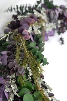 Preserved Eucalyptus, Dusty Miller, and Rosemary Garland 8ft for the Alter