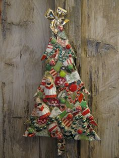 Eccentricities, Mosaics by Kelly Aaron: Rockin Around the Christmas Tree
