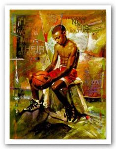 Your Source for Fine Black Art Prints and Posters by African American Artists, other Ethnic and Decorative Prints and and Posters at Everyday Discount Prices. Black Art Painting, Black Artwork, African American Artwork, African Art, African Design, Black Art Pictures, Basketball Art, Black Women Art, Black Men