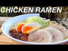 Chicken Ramen Recipe / 鶏白湯 ラーメン - YouTube Chicken Ramen Recipe, Ramen Recipes, Tasty, Beef, Food, Youtube, Meat, Essen, Meals