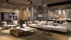 2017 IMM COLOGNE Hall Design, Sofa Design, Interior Design, Contemporary Furniture, Modern Contemporary, Furniture Making, Cologne, Bookshelves, Dining