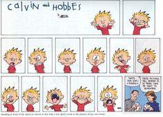 Calvin & Hobbes rostos