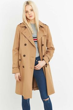 Urban Outfitters - Trench classique taupe - Urban Outfitters