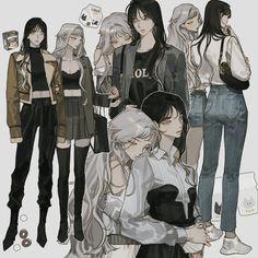 Anime Girlxgirl, Yuri Anime, Chica Anime Manga, Cool Anime Girl, Anime Art Girl, Manga Art, Anime Girls, Female Characters, Anime Characters