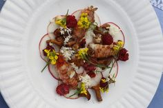 Serves 4 Ingredients 16 langoustine tails – peeled 1 tbsp butter Fresh heather Salt 16...