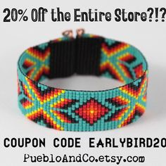 Updates from PuebloAndCo on Etsy Loom Patterns, Beading Patterns, Embroidery Patterns, Cow Girl, Style Indien, Couture Main, Bead Loom Bracelets, Loom Bands, Native American Fashion