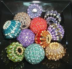 Beaded beads with crystals - just can't resist a nice beaded bead :)