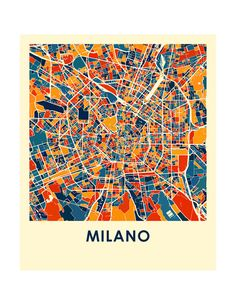 Items similar to Milan Map Print - Full Color Map Poster on Etsy City Map Poster, Poster On, Poster Prints, Map Posters, Print Map, Architecture Collage, Architecture Drawings, Milan Map, Pixel City