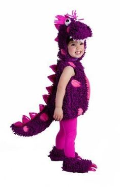 This paige the dragon costume is a toddler dragon costume idea. The purple and pink dragon costume is cute for your daughter this halloween. Skeleton Costume Kids, Dragon Halloween Costume, Cute Halloween Costumes, Halloween Fancy Dress, Halloween Kostüm, Baby Costumes, Infant Halloween, Purple Halloween, Running Costumes