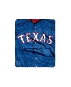 Northwest Company Texas Rangers Plush Jersey Throw Blanket - Team Color