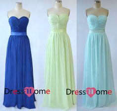 Strapless Long mint Bridesmaid Dresses / Blue by DressHome on Etsy, $99.99