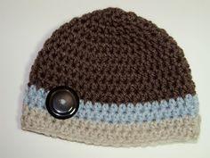 Button Beanie that I made so simple