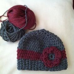 Crocheted wool hat