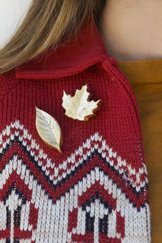 DIY: gold leaf brooches