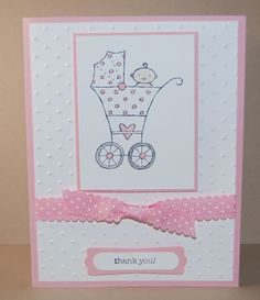 Baby Bundle Shower Thank You Card