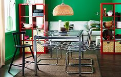 Create a dining area in the living room