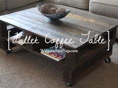 diy tutorials: diy how to build a pallet coffee table | pallet