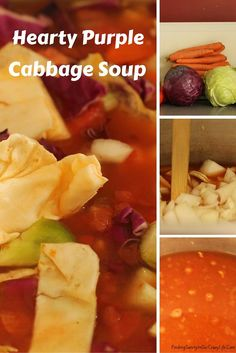 Delicious Hearty Purple Cabbage Soup