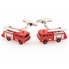 Fire Engine Fireman Fire Truck Firefighter Fire Station  Cufflinks
