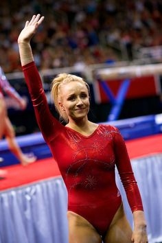 "After she went out with a bang on her last routine on the balance beam, Nastia Liukin bids her fans ""farwell"""