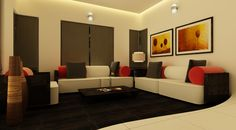 Beautifully rendered home interior design concepts by Subin Surendran Architects Kochi, Kerala Master Bedroom Interior, Interior Design Living Room, Bedroom Bed, Bedroom Furniture, Living Room Kerala, Decor Interior Design, Interior Decorating, Interior Designing, Furniture Design