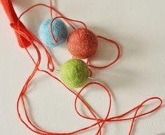 Felt Ball Garland for Christmas | Crafts Tutorials Blog - Ideas For Crafts