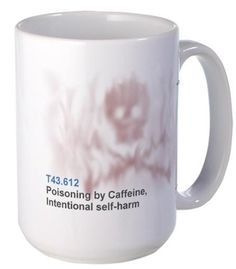 ICD 10 code T43.612 Poisoning by Caffeine