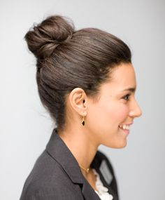 Definitely need to learn how to do an actual bun!