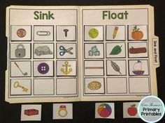 Science File Folder Activity ~ Sink and Float Activities For 5 Year Olds, Preschool Science Activities, Kindergarten Science, Elementary Science, Preschool Charts, Science Fair Projects Boards, Sink Or Float, File Folder Activities, Preschool Worksheets