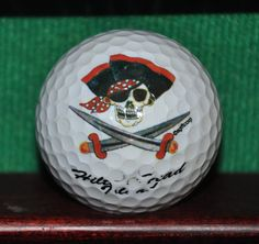 Jolly Roger Style Pirate logo golf ball. Hilton Head Island South Carolina.