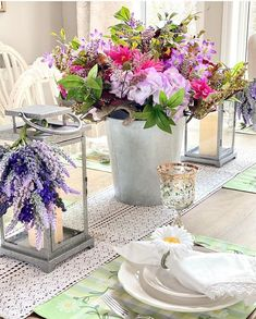 . #mothersday #mothersdaygift #giftideas #tablesetting #tabledecor #homedecor #tablestyling Spring Is Here, Spring Home, Balsam Hill, Centerpieces, Table Decorations, First Mothers Day, Dark Winter, Floral Arrangements, Lanterns
