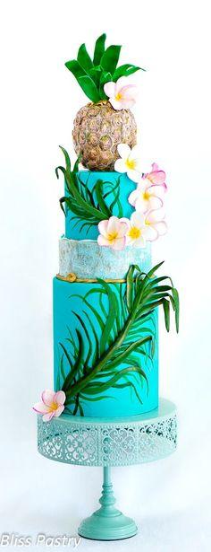 Hawaii Themed Cake
