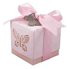 wedding pink butterfly favour boxes £4.99 5pk