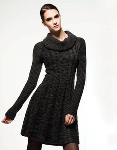 When the weather outside is frightful… Fall 14, High Neck Dress, Weather, Collection, Dresses, Style, Fashion, Cast On Knitting, Clothing Apparel