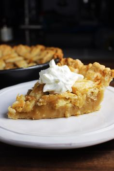 Quebec sugar pie is a traditional French Canadian dessert with a smooth, rich, creamy filling. This version is made with both brown sugar and maple syrup. It's super cheap and easy to make! #piday #pie #dessert #dessertrecipes