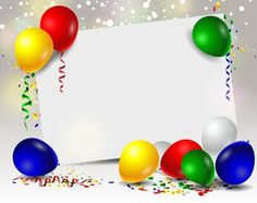 vector birthday with balloons and blank sign