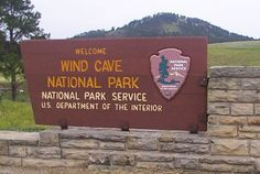 Wind Cave National Park in the state of South Dakota