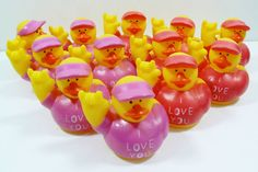 I LOVE YOU Rubber Ducky 1 doz / set of 12 Party favor Gift Surprize  #Iloveyou