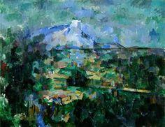 PAUL CÉZANNE  'La Montaña Sainte-Victoire vista desde Lauves', 1904-1906, óleo sobre lienzo,   Basilea, Kunstmuseum