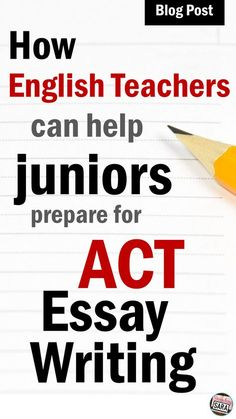 Tips to help any high school English teacher prep his or her students to do well on the ACT's Writing/Essay section! High School Classroom, English Classroom, High School Students, Classroom Ideas, English Teachers, Writing Lessons, Teaching Writing, Essay Writing, Apa Essay