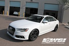 Audi A6 with tinted windows
