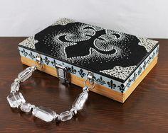 Fleur de Lis Cigar Box Purse by NancyBenkoDesigns on Etsy, $45.00
